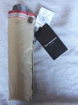 定価¥10,800 トラサルディ 折りたたみ傘 紳士メンズ折り畳み傘 新品