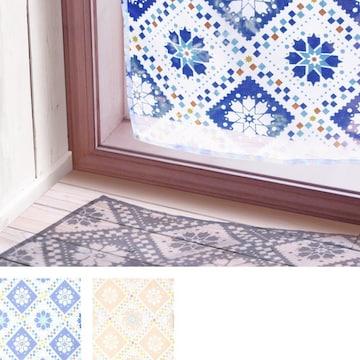 カーテン ヴィータ タイル柄シリーズ オパール加工 透け感