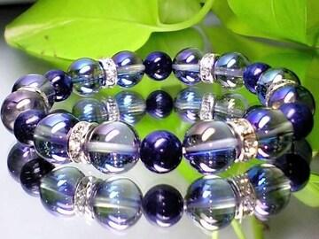 蒼と聖石の色合い天然石◆アクアオーラブルー・ラピスラズリ瑠璃