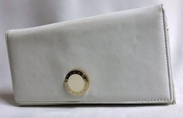 正規 BVLGARIブルガリ コローレ B-zeroロゴ長財布白×金 ウォレット 小銭入れ
