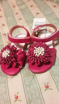 新品お花フラワーサンダル定価\356415.0 サイズピンク系