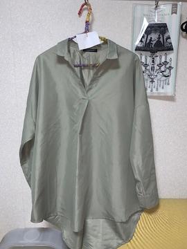 CHIP clip 薄グリーンのスキッパーシャツ  美品