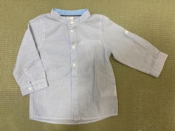H &M  長袖 シャツ ベビー 80 トップス 男の子 ストライプ 薄手 ロンt 薄手