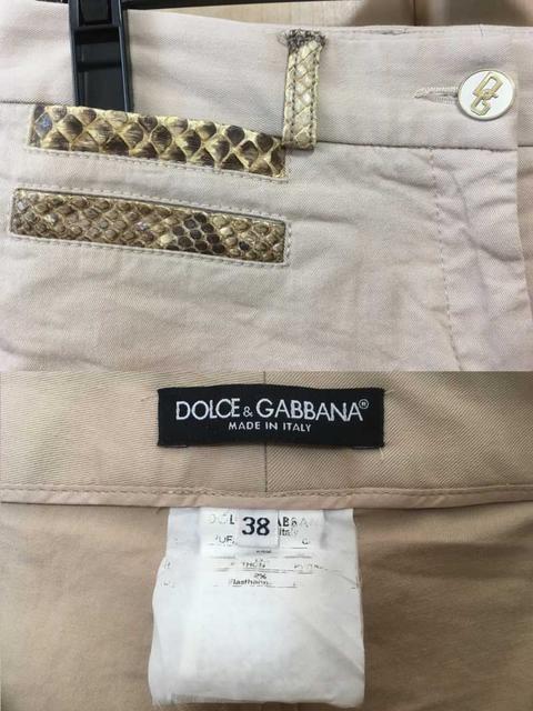 □良品《DOLCE&GABBANA》パイソンパイピングハーフパンツ 38□ < ブランドの