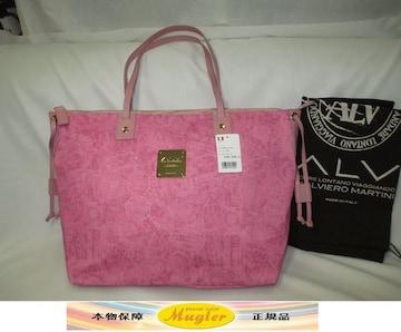 新品 ALV エーエルブイ デニム トートバッグ ピンク 定価3.8万