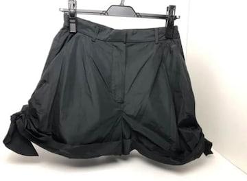 Y014 新品★ カルヴァン ショートパンツ 36 黒 定価59,400