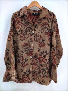 SAG HARBOR(サグハーバー)花柄開襟シャツシャツ・ブラウス