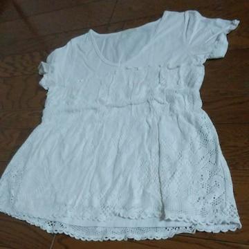 JEANASIS 白 美品 Mサイズ