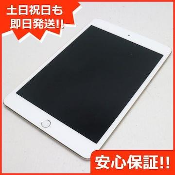 ●美品●SIMフリー iPad mini 4 Cellular 64GB ゴールド●