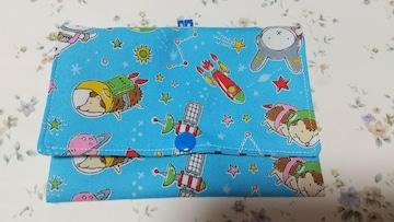 ハンドメイドNo.19 送料込み アニマル柄 ポケットポーチ