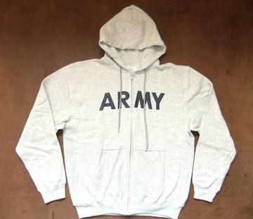 アメリカ軍 ARMY スウェットレプリカ  パーカー グレー M