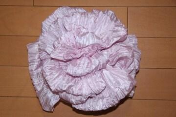 浴衣に♪結び方簡単くしゅふわ兵児帯★ベビーパールピンク/子供へこ帯