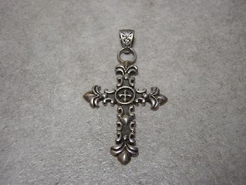 シルバー 925 クロスネックレス 十字架 百合の紋章