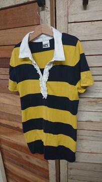 ロデオクラウンズ/RODEO CROWNS ボーダー 半袖シャツ ポロシャツ M