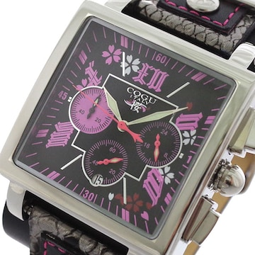 COGU 桜 SAKURA クロノグラフ メンズ 腕時計 BNSKR-BPK