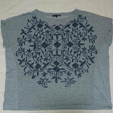 StudioCLIP 刺繍グレー半袖カットソー