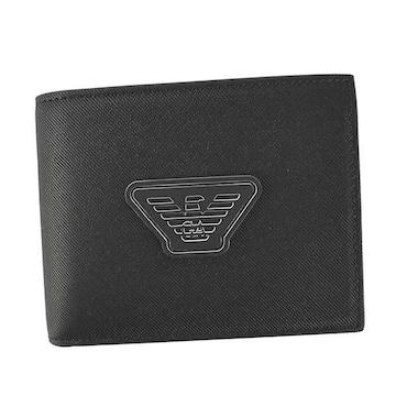 ★エンポリオアルマーニ 2つ折財布(BK)『Y4R165 Y019V』★新品本物★