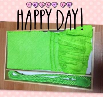 新品☆総絞り帯揚げ 帯締めセット☆明るいグリーン