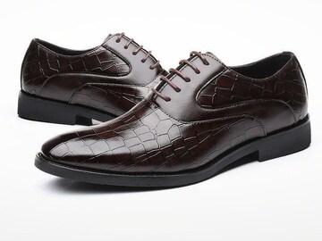 28.0 クロコ ドレスシューズ 靴 トンガリ メンズ ヤクザ オラオラ お兄系 ホスト 119 赤