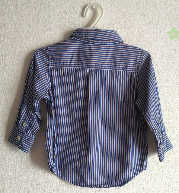80★baby GAP★ストライプシャツ★水通し済み★新品 < ブランドの