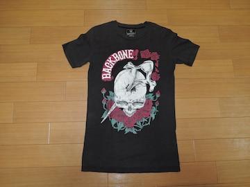 BACKBONE バックボーン Tシャツ S 黒 スカルローズ カットソー