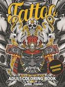 刺青 参考本 USA製 デザイン本 【 Tattoo COLORING BOOK 】 324