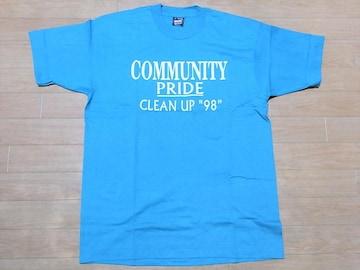 即決!USA古着●鮮やかロゴデザイン半袖Tシャツ!ビンテージ