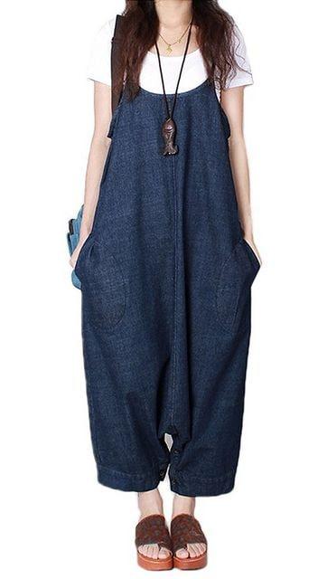 2way ワンピース &サルエル . サロペット パンツ(Mサイズ) < 女性ファッションの