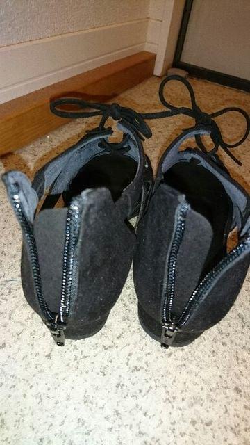 靴 24�p  ワイズ3E◆黒 < 女性ファッションの