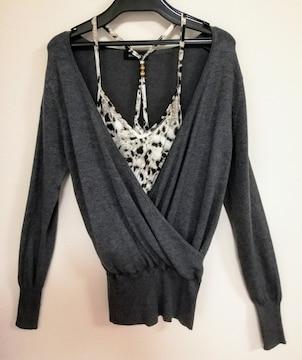 エゴイスト デザインセーター&キャミソール 美品 Mサイズ
