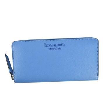 ◆新品本物◆ケイトスペードF ラウンドファスナー長財布(L.BL)『WLRU5888』◆