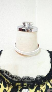 新品チョーカー★10mm★choker★white★(小)