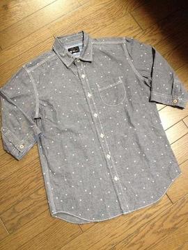 美品TK MIXPICE 7分丈星柄シャツ タケオキクチ