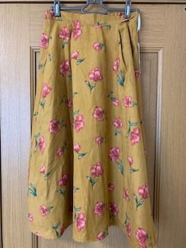 レイカズンフェバリ??フェイクスエード花柄スカート
