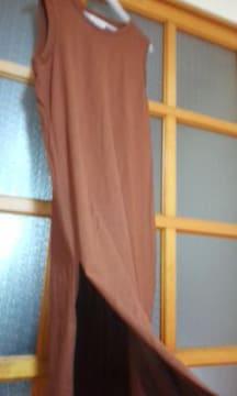 ローリーズファーム両裾サイドスリット入りワンピースLサイズ