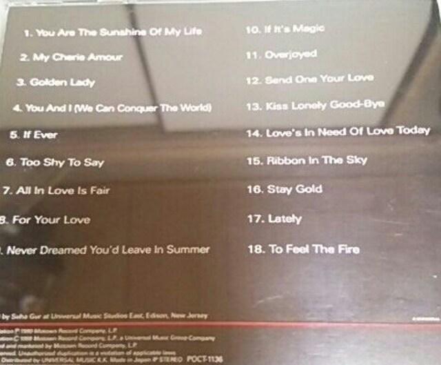 国内盤ベストCD STEVIEWONDER BALLAD COLLECTION スティーヴィーワンダー < タレントグッズの