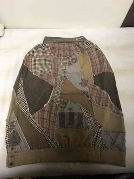 EL RODEO 変形 パッチワーク バルーン風 ロングスカート