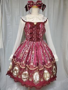 カメオウィンドウジャンパースカート+カチューシャ