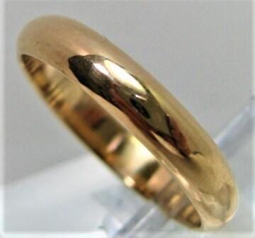 K18 18金 リング 甲丸 サイズ#15 結婚指輪 男女兼用 e