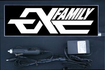 光る プレート 『EXFamily』 EL発光ブルー EXILE エグザイル