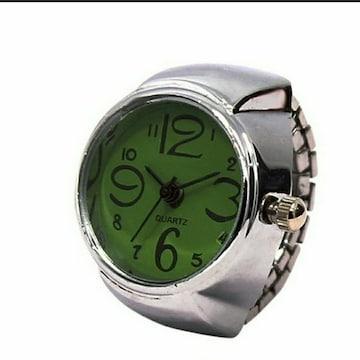 新品 未使用 指輪 時計 シンプル 9色対応 緑