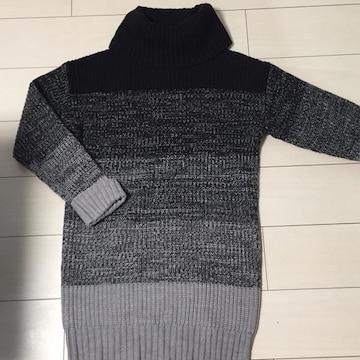 INGNI☆イング☆グレー×ブラック黒☆ニットカットソーセーター