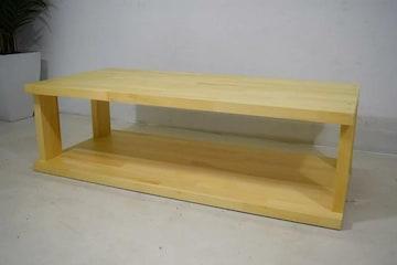 新品☆ナチュラル天然木ローテーブル104cm☆s271