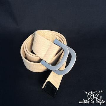 D-RING Dリング ダブルリング キャンバス ベルト ベージュ 469