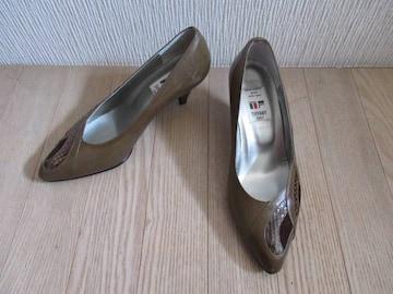 有名ブランド&新品&国産★ティファニー/TIFFANY★革/茶系/23.5
