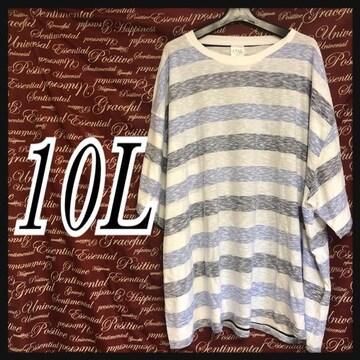 10L・ボーダーTシャツ新品/MC0P-106