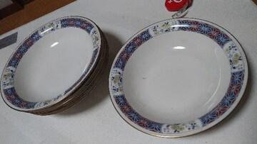ノリタケ9×9高さ5皿5枚欠あり汚れあり植木皿に