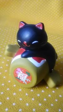福猫ちゃん 置物 黒猫