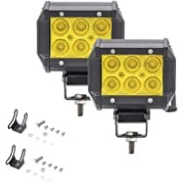 18wイエロー LED作業灯 イエロー バイクフォグランプ LEDワーク