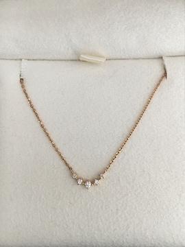 ヴァンドーム青山 ダイヤモンド カーブライン ネックレス K18YG